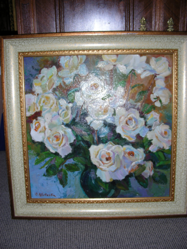 Валентина Петровна Цветкова. Белые розы