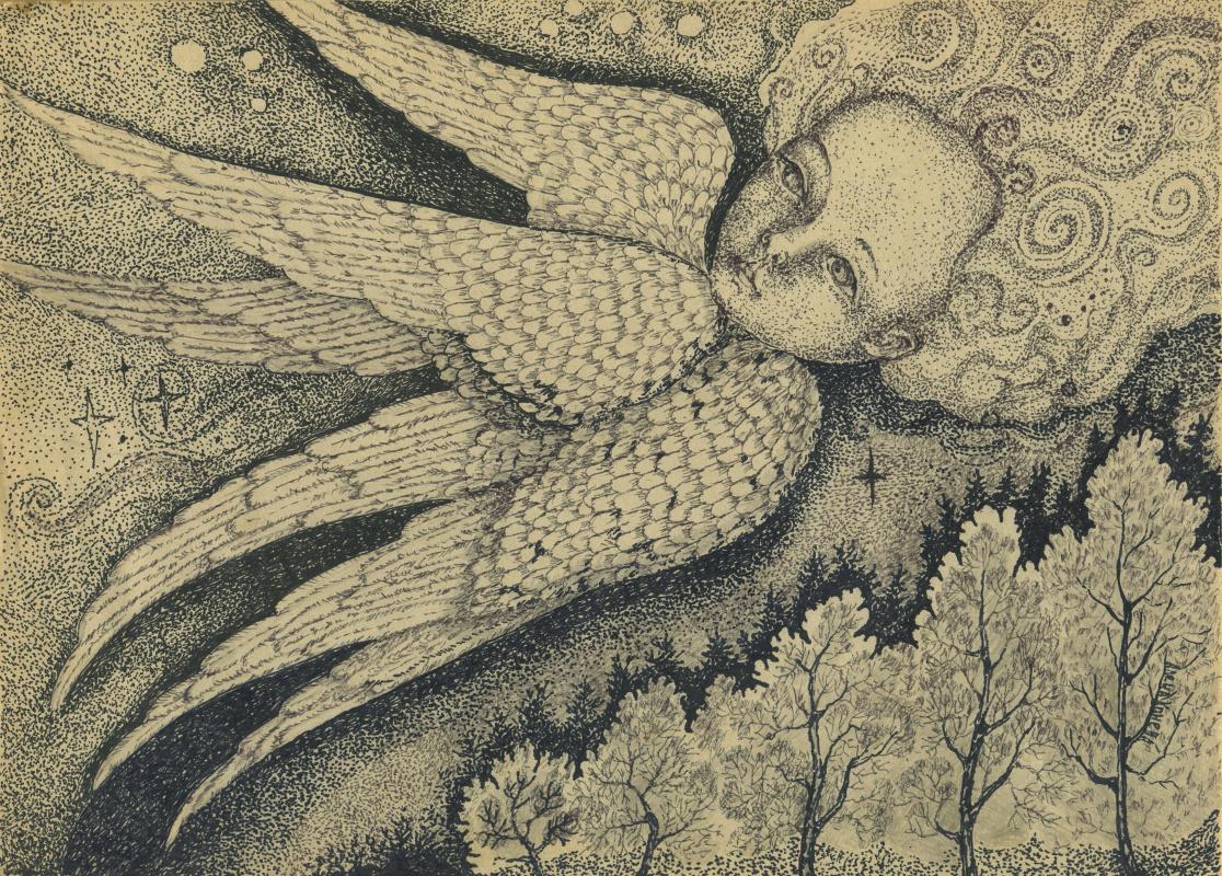 Olyona Ivanovna Koneva. Flying angel Print
