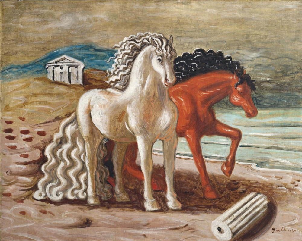 Джорджо де Кирико. Лошади у моря