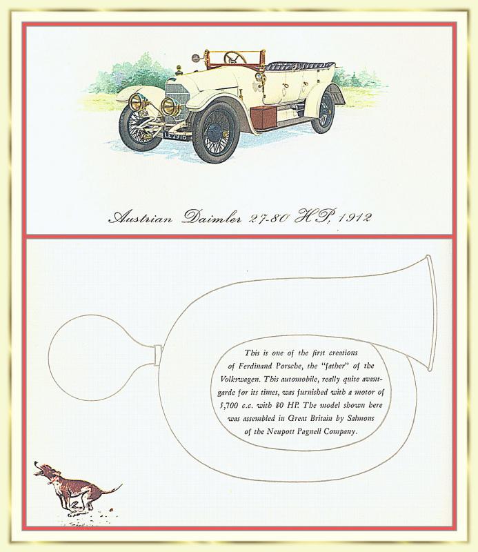 Лионель Моррис. Серия ретро-автомобили. 1912 Аустро-Даймлер