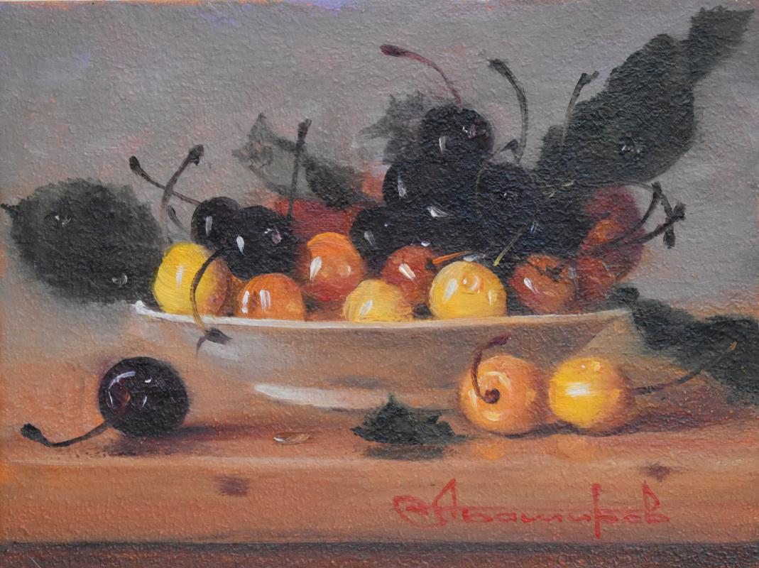 Andrey Bashirov. Black and white cherries