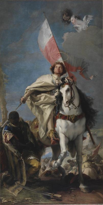 Джованни Доменико Тьеполо. Явление святого Иакова в битве при Клавихо