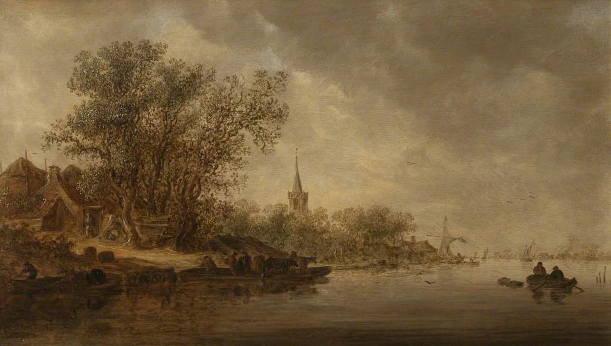 Jan van Goyen. Scene on a river