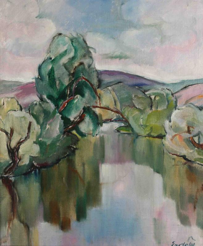 Adalbert Mikhailovich Erdeli. Over the Uzh (By the Lake)