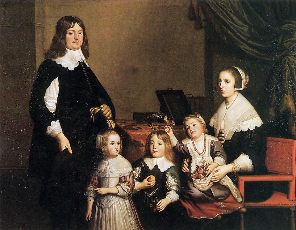 Геррит ван Хонтхорст. Портрет неизвестного семейства