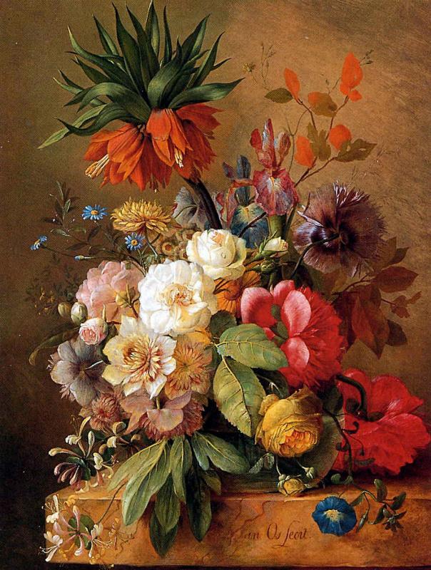 Анри ван Ос-Делез. Натюрморт с цветами