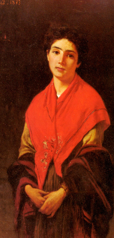 Федерико Дзандоменеги. Дама в красном