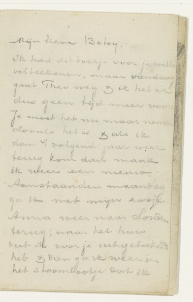 Vincent van Gogh. Letter Betsy Tersteeg. July 7, 1874 the First part
