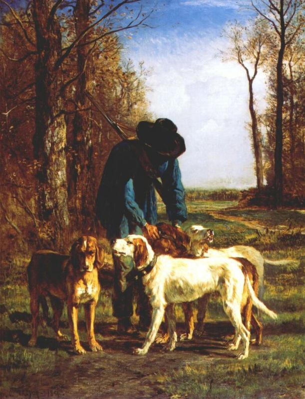 Констант Труайон. Охотник и его собаки