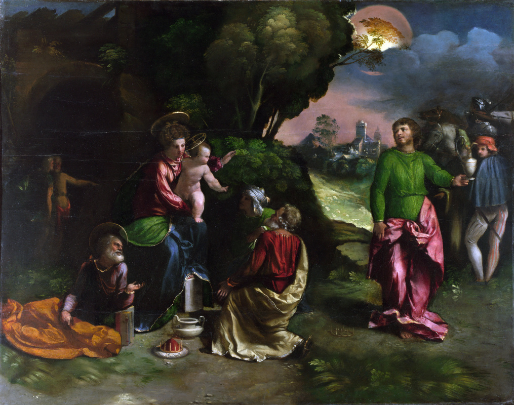 Dosso Dossi. The adoration of the Magi