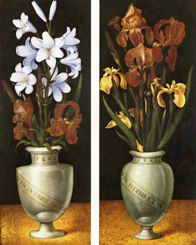 Лудгер том Ринг Младший. Две вазы с цветами