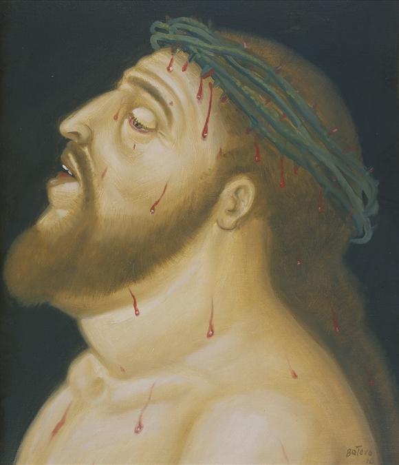 Фернандо Ботеро. Голова Христа