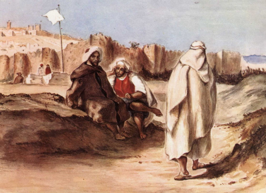 Eugene Delacroix. The Arabs before the city of Algiers