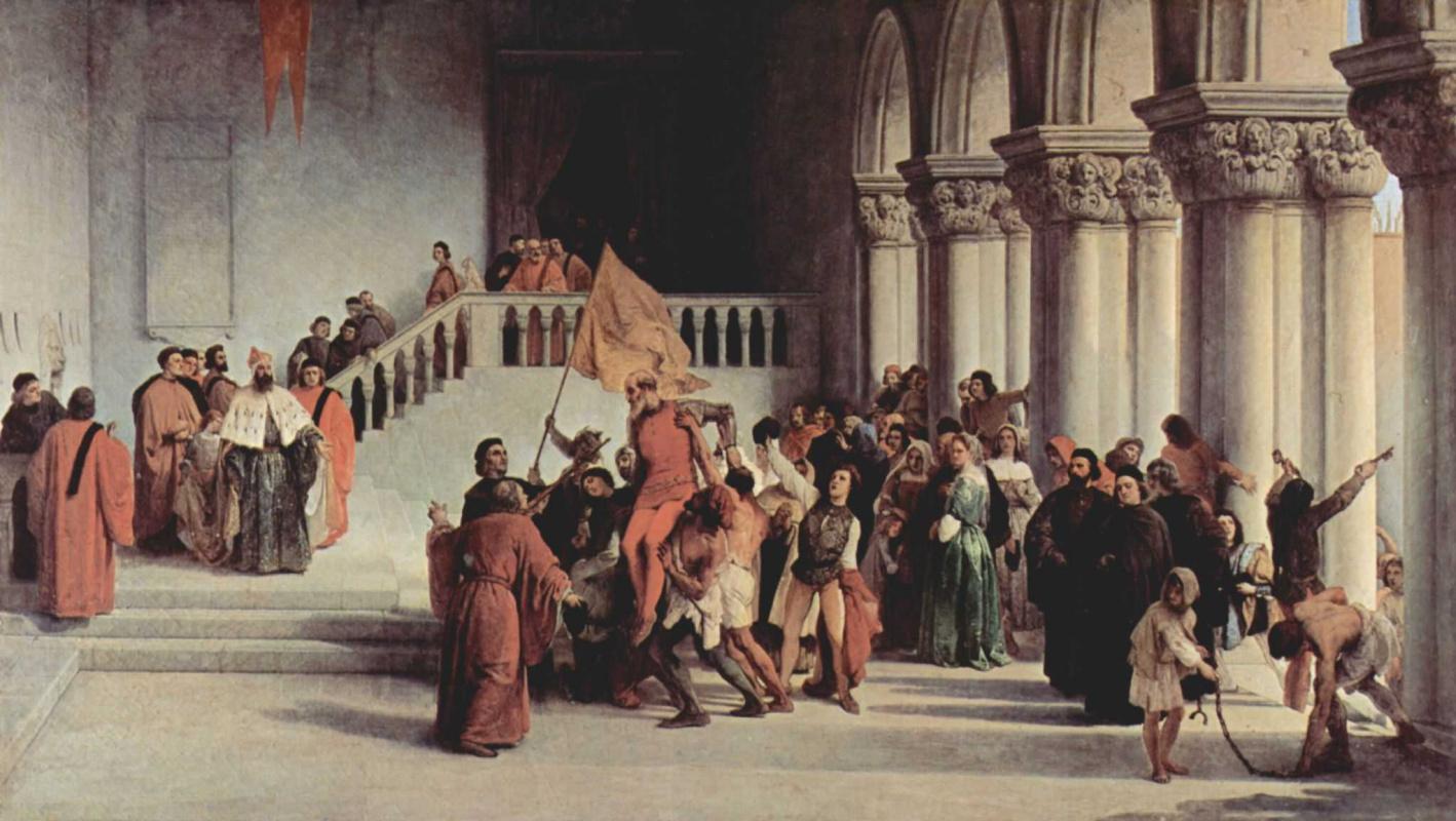 Франческо Айец. Освобождение Витторе Пизани из темницы