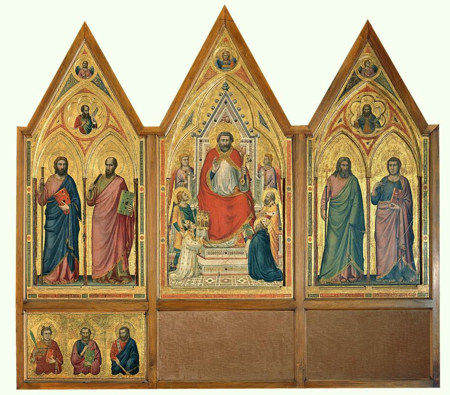 Джотто ди Бондоне. Триптих Стефанески. Обратная сторона