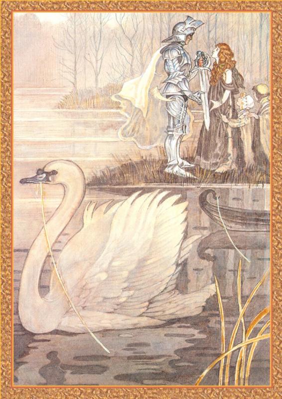 Иллюстрации к книге Рыцари. Лоенгрин 01