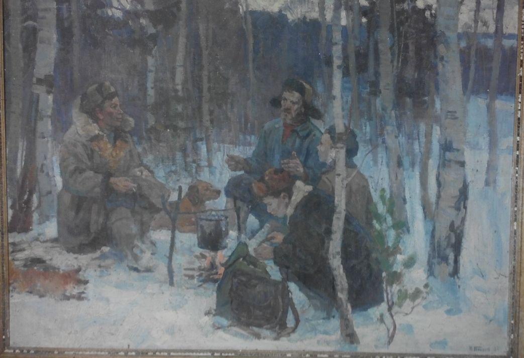 """Petr Nikiforovich Bogachev. """"Hunters"""""""