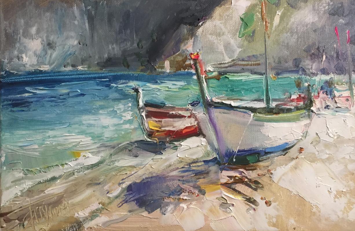Pavel Tyapugin. Boats. Based on the work of Oleg Trofimov
