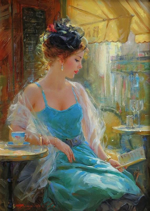 Константин Разумов. В кафе, Париж.
