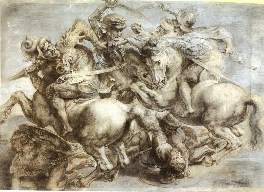 "Peter Paul Rubens. Copy of ""Battle of Anghiari"" by Leonardo da Vinci"