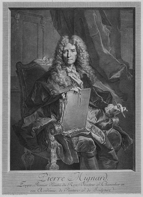 Georg Friedrich Schmidt. Portrait of French painter Pierre Mignard