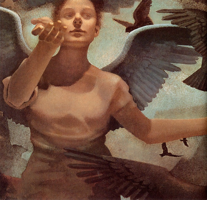 Seylig Gallagher. The angel speaks to birds