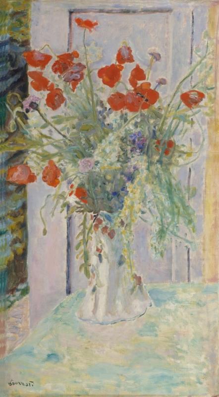 Pierre Bonnard. Poppies in a vase