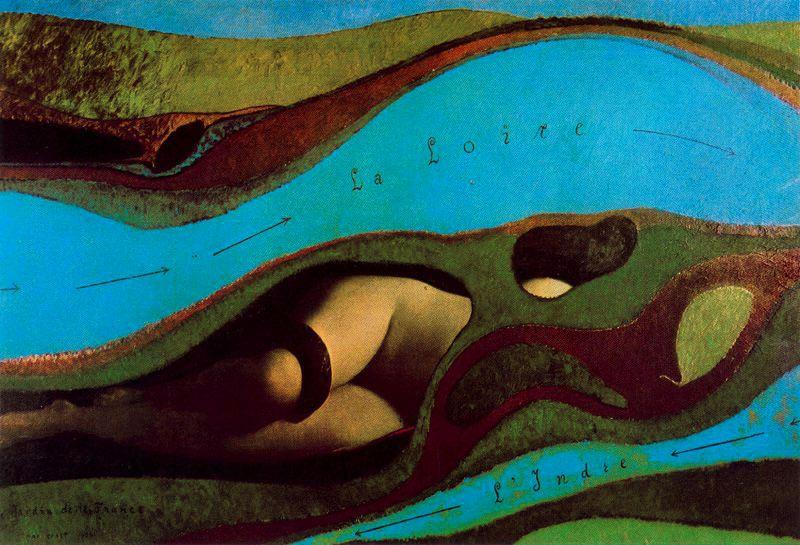 Max Ernst. French garden