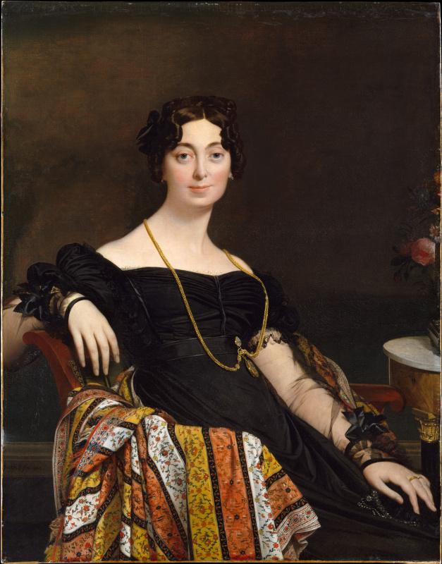 Jean Auguste Dominique Ingres. Portrait of Madame LeBlanc