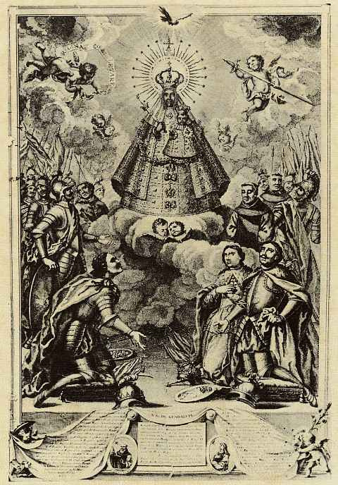 Antonio Pons. The Image Of The Virgin Of Guadalupe