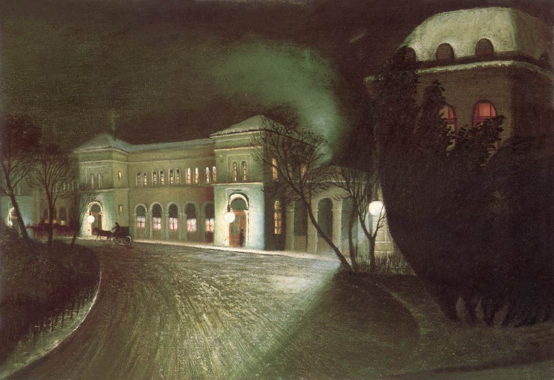 Tivadar Kostka Chontvari. East Station at night