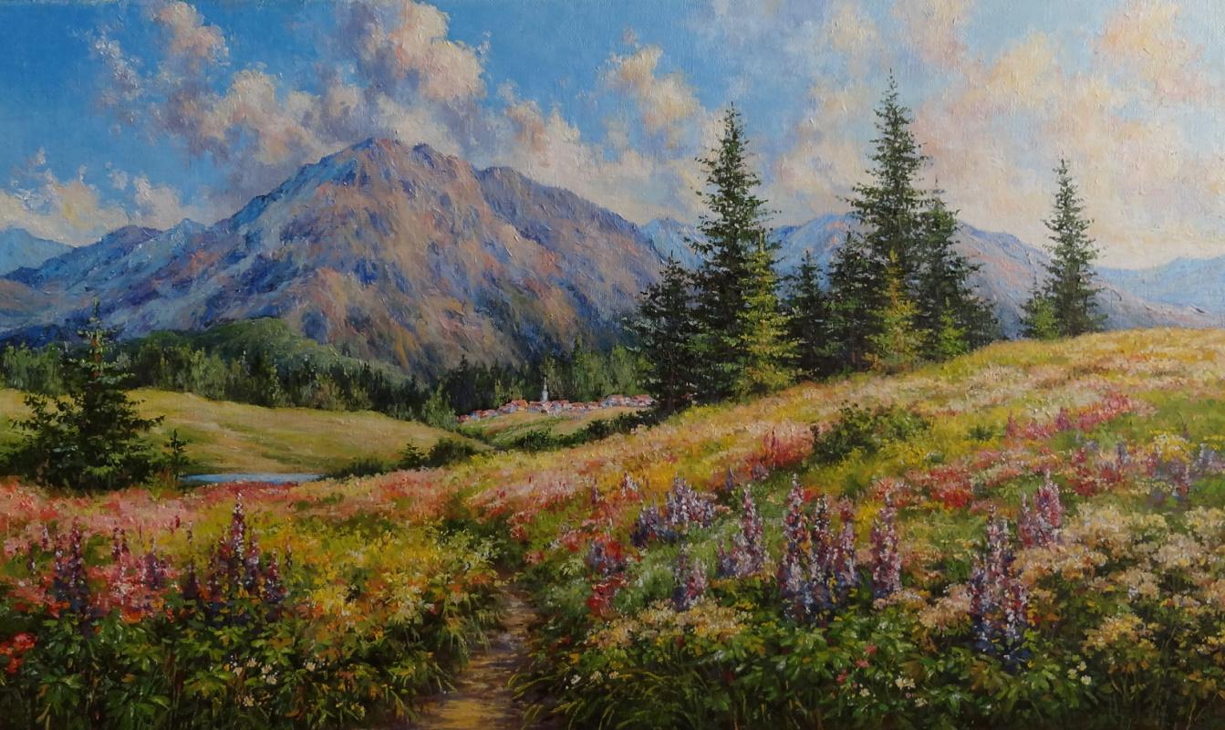 Irina Nikolaevna Borisova. Alpine meadow.
