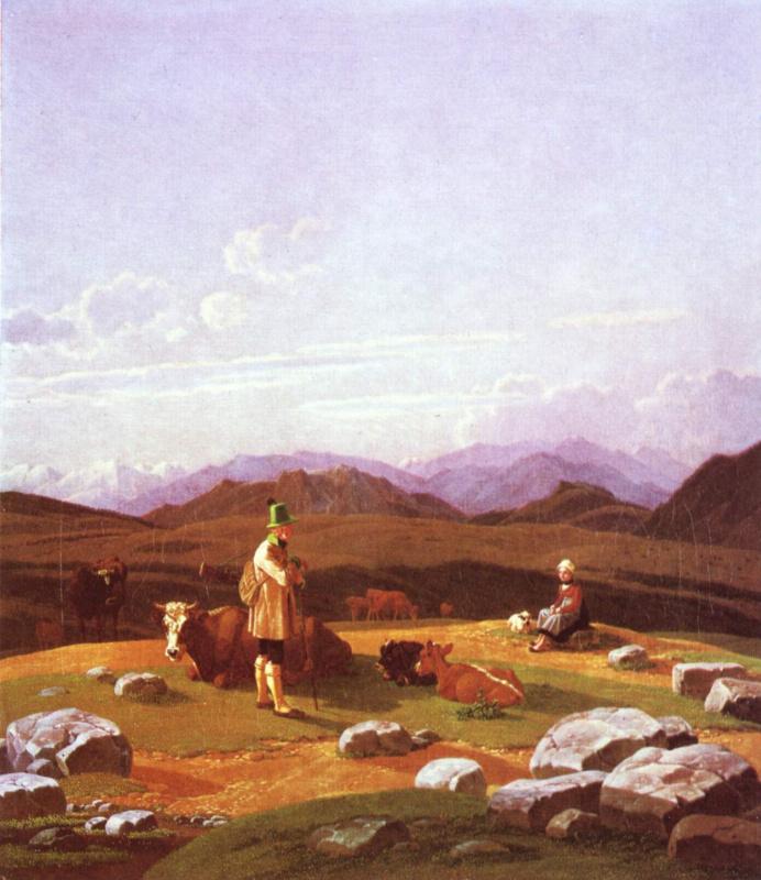 Вильгельм Александр Вольфганг фон Кобелль. Охотники на горном пастбище