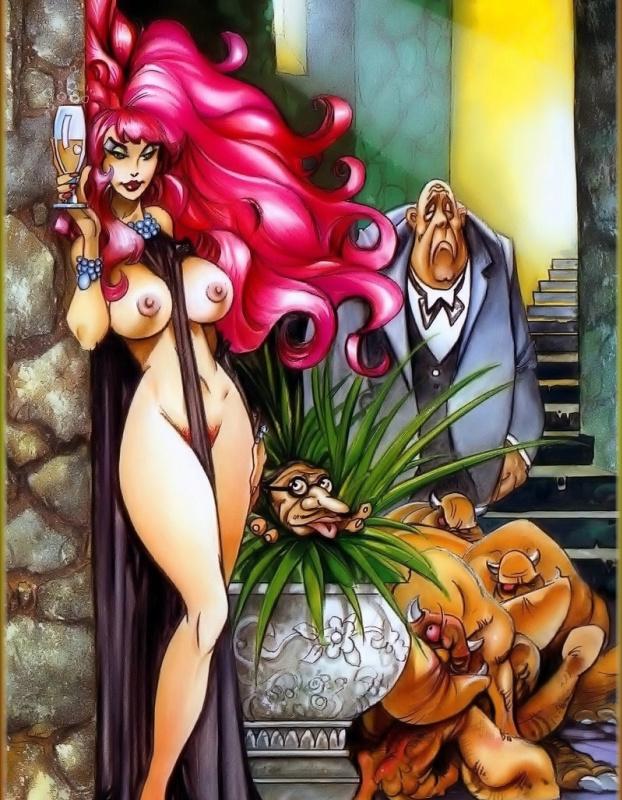 Альфонсо Азпири. Девушка с розовыми волосами