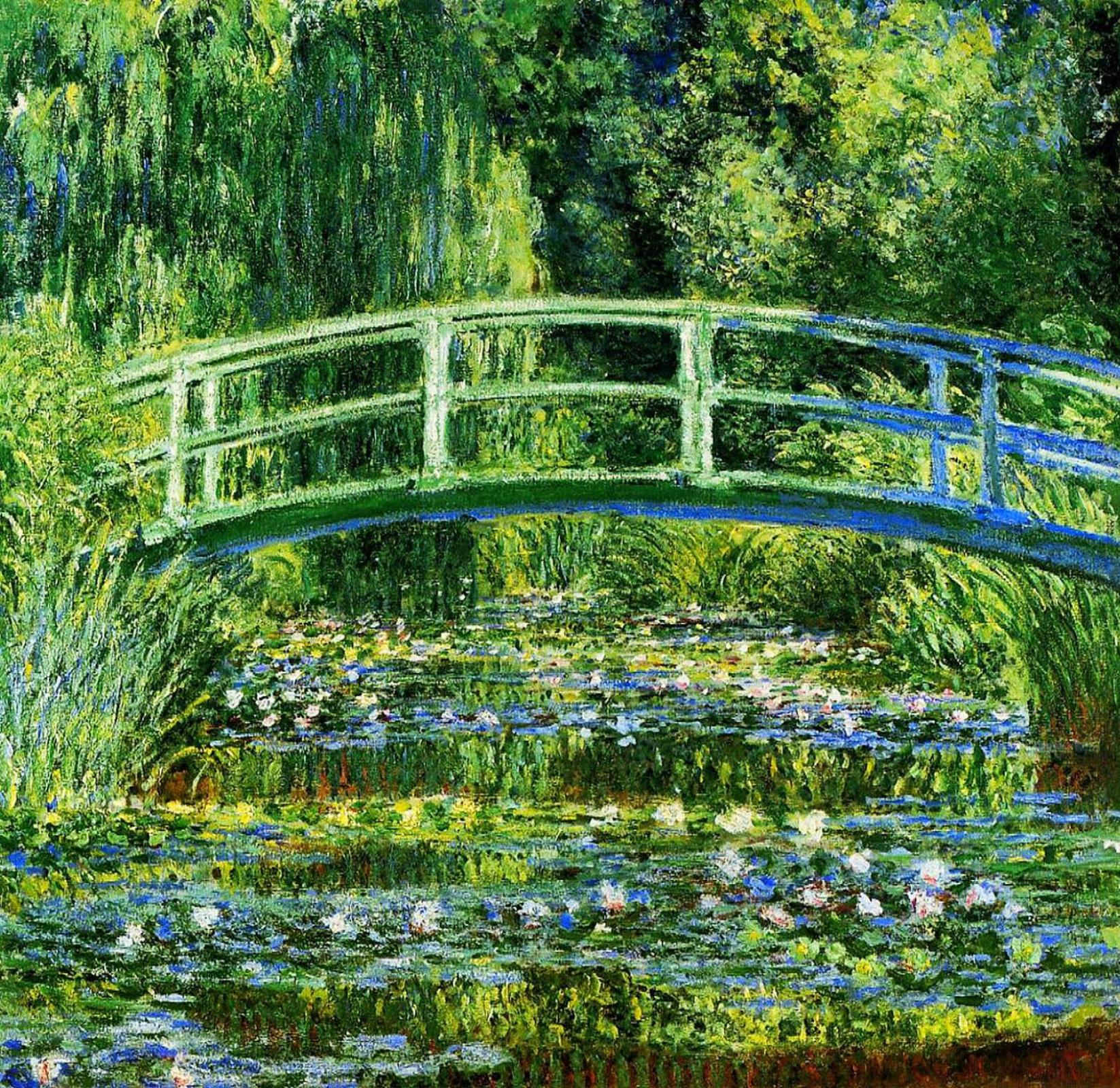 Клод Моне. Японский мостик (Пруд с водяными лилиями)