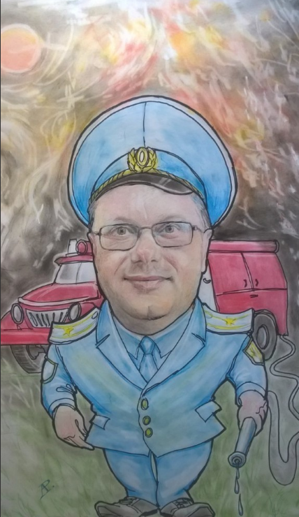 Anatoly Alexandrovich Rybakov. Anniversary Firefighter (cartoon)