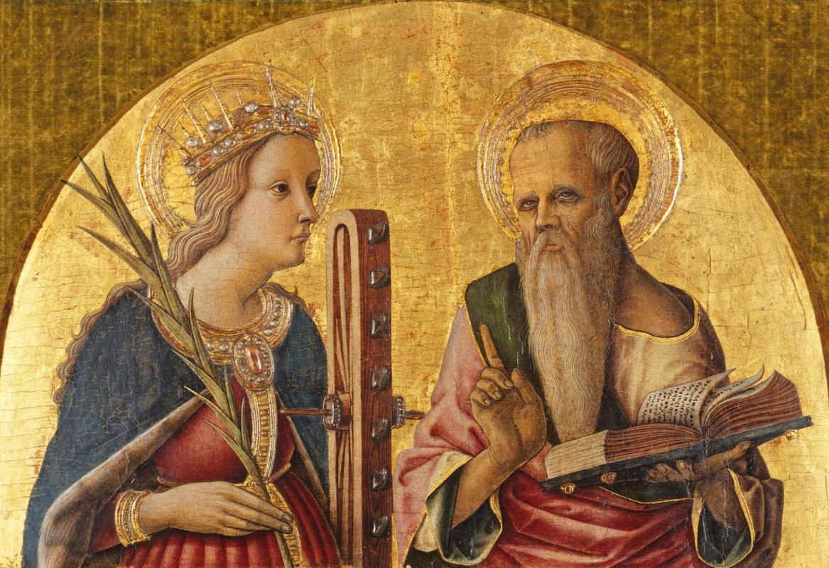 Carlo Crivelli. Saint Catherine and Saint Jerome