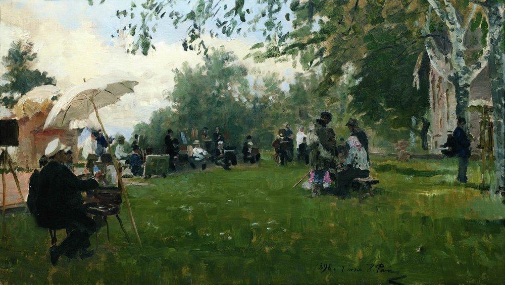 Ilya Efimovich Repin. On the Academic summer residence