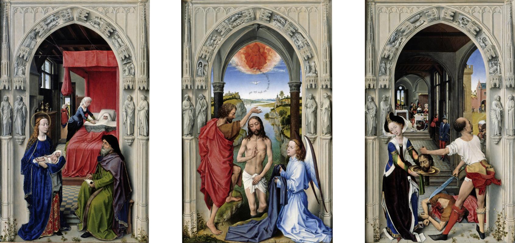 Rogier van der Weyden. The altar of St. John