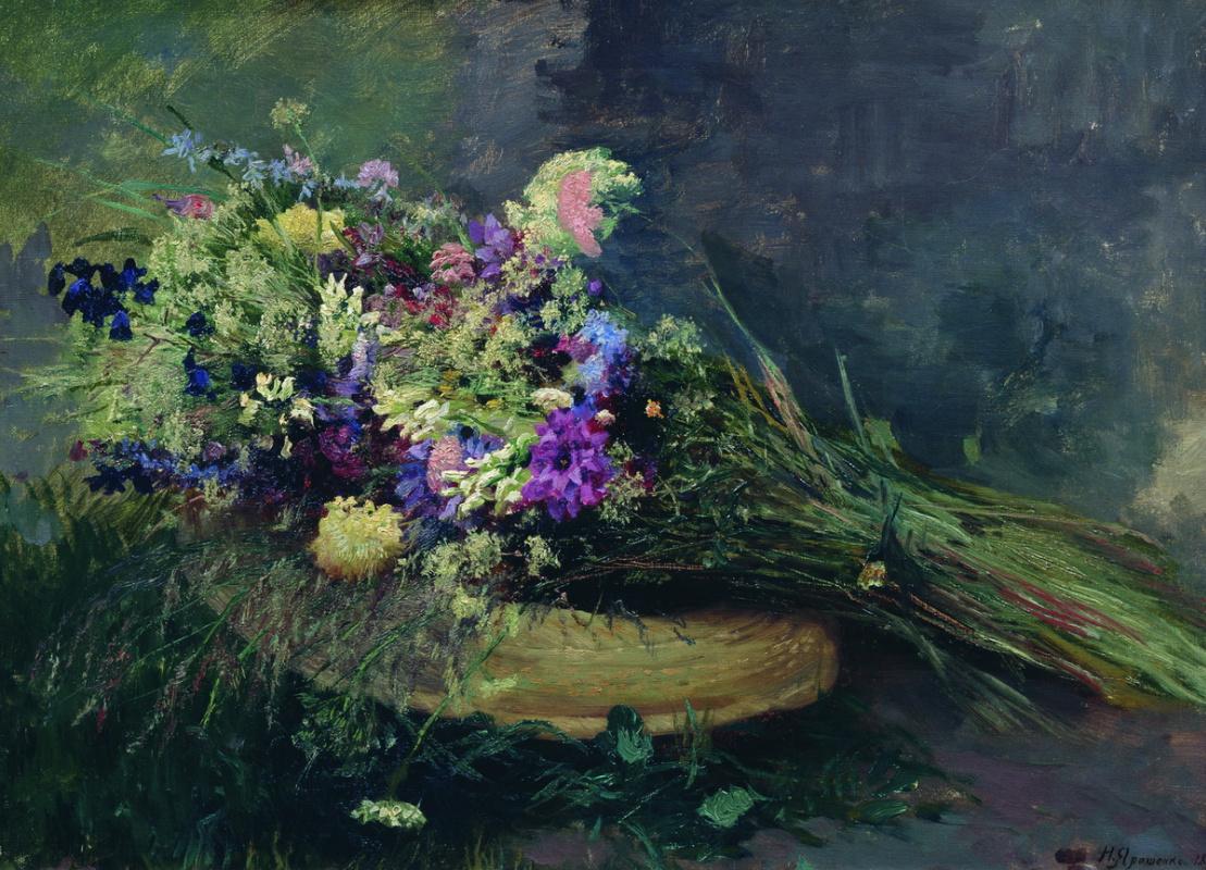 Nikolay Aleksandrovich Yaroshenko. Wildflowers. 1889