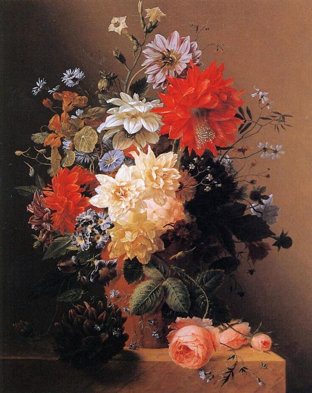 Арнольд Бломерс. Цветы в вазе