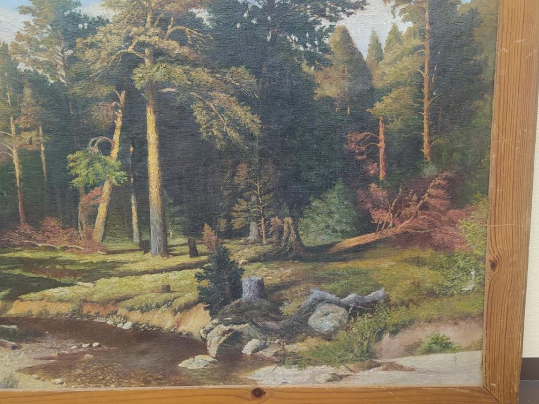 Картина Лес в тишине.