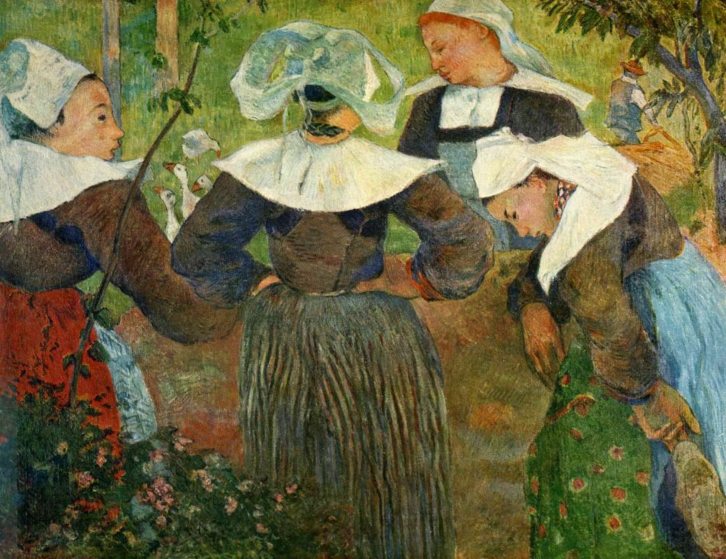 Поль Гоген. Четыре бретонские женщины