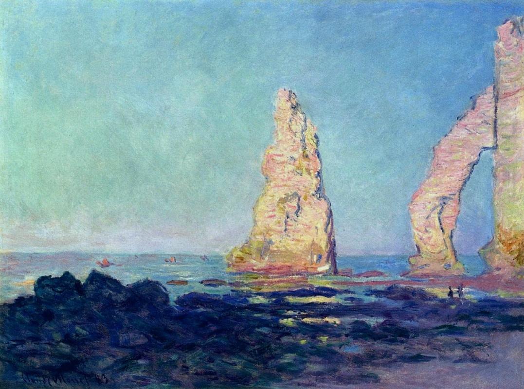 Claude Monet. The rock Needle of Etretat, low tide