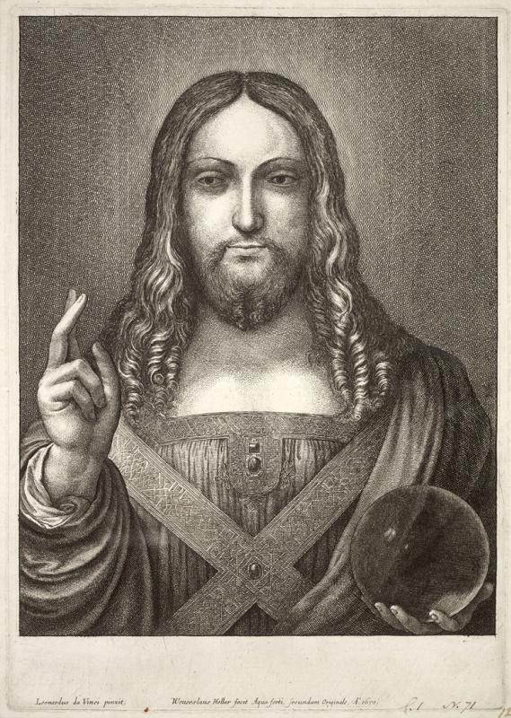 Вацлав Холлар. Иисус, по мотивам Леонардо