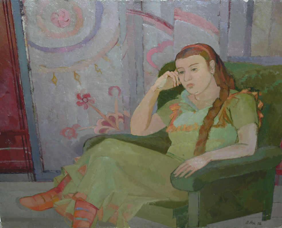 """Olga Dmitrievna Akulina. """"Girl in the armchair"""""""