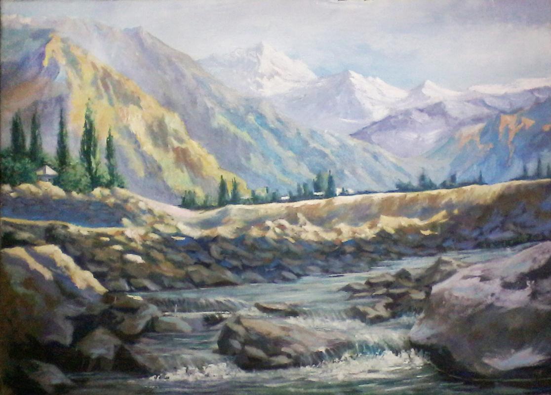 Olga Suncheleeva. Mountain river