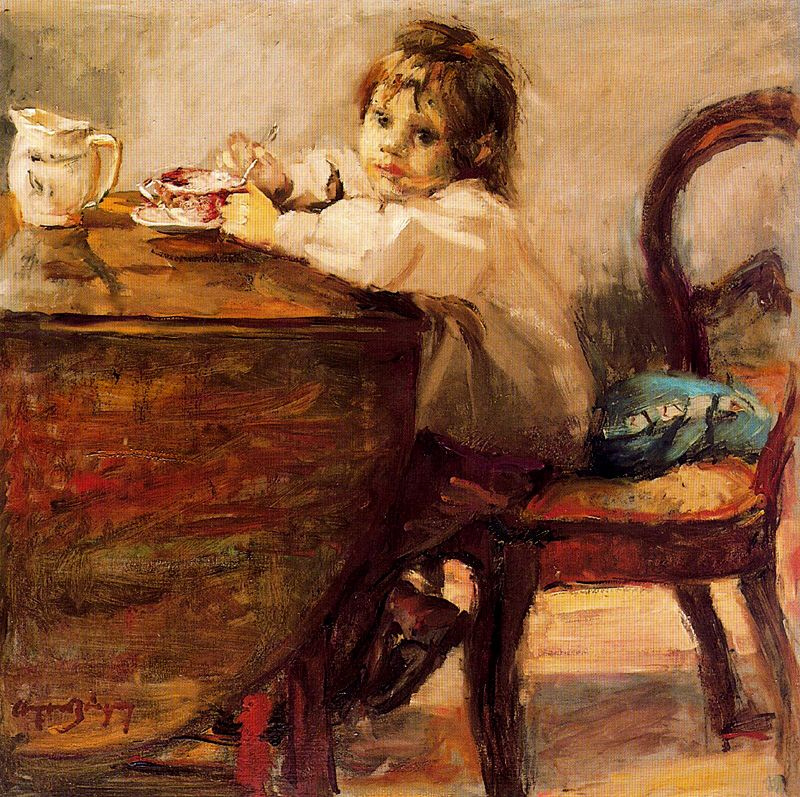 Cayetano de Archer Buigas. The child at the table