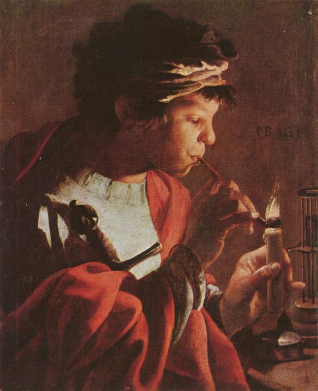 Hendrick Jansz Terbrugghen. Boy with a pipe