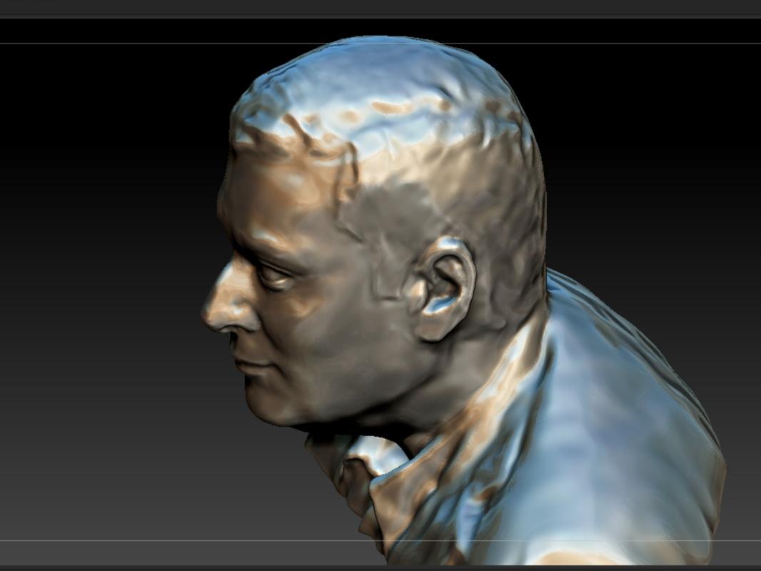 Constantin Preis. Portrait of a man